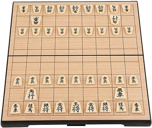TX NIÑA Plegable Magnético Set Shogi Plegable En Caja Japonesa De Ajedrez Juego De Mesa Portátil