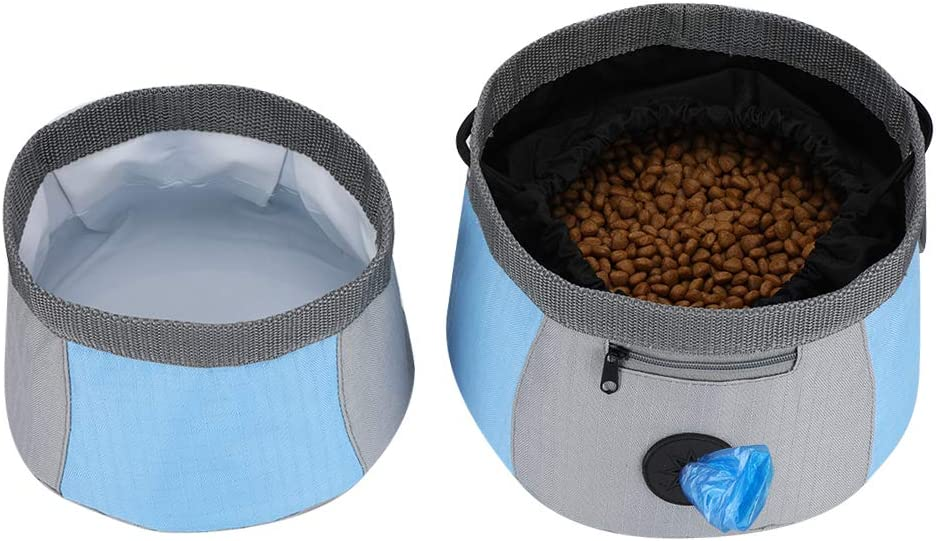 YOUTHINK Collapsible Dog Travel Bowl, 2 Pack Portable Dog Travel Water and Food Bowls for Medium & Large Dogs Cats, Foldable Pet Feeding Watering Dish for Walk Park Travel