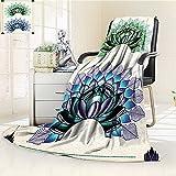 AmaPark Digital Printing Blanket Art Lotus Dot Work Motifs Yoga Meditation Life East Green Summer Quilt Comforter