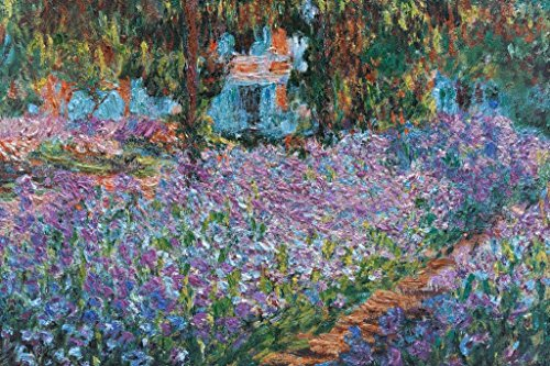 Claude Monet Irises in Monets Garden French Impressionist Pa