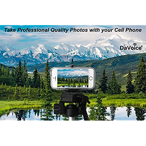 DaVoice Cell Phone Tripod Mount Adapter Holder Clamp for