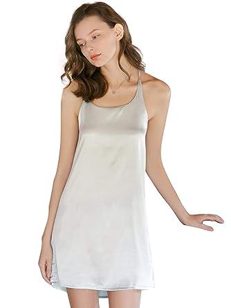 07b37b503adf SweatyRocks Women s Sexy Lingerie Dress Satin Nightgown Sleeveless Sleepwear  Pajama Dress Green Medium