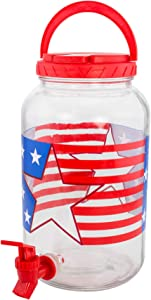 Patriotic Beverage Dispenser 1 Gallon Perfect for all your summer parties