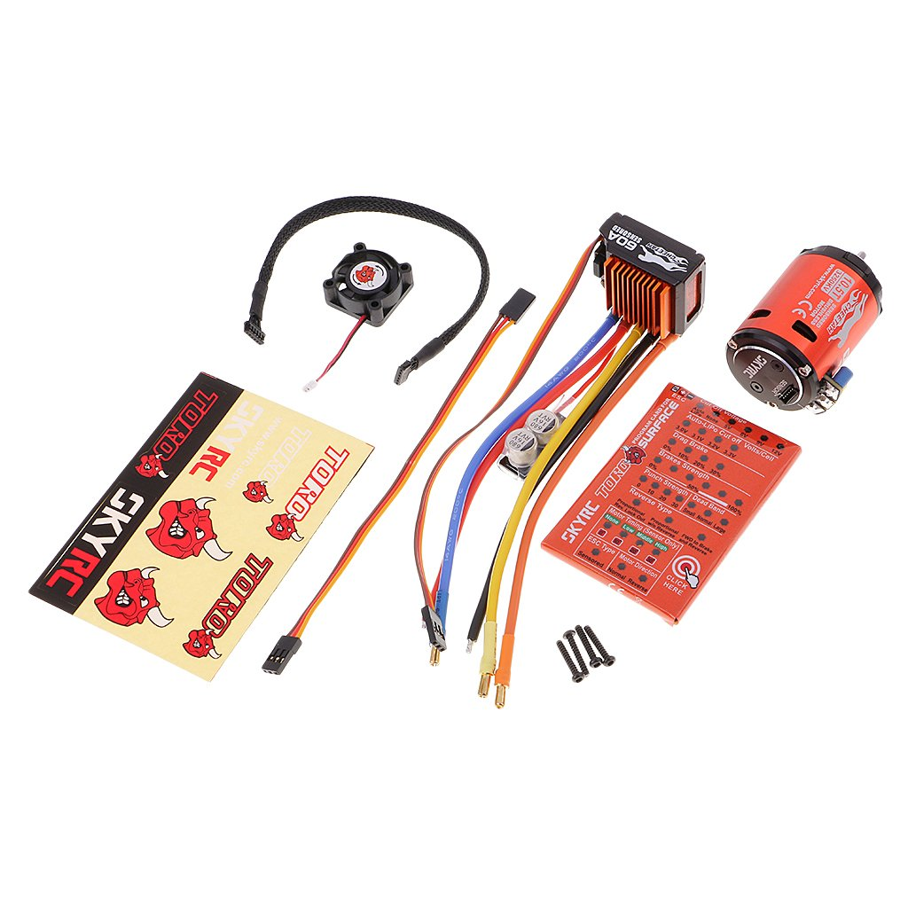 precio al por mayor MagiDeal Cheetah Cheetah Cheetah 3250KV 10.5T Sensor sin Cepillo Motor + 60A ESC con Tarjeta de Programa de LED para 1 10 RC Coche Durable  a la venta