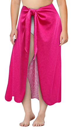 1d601091765 Sanctuarie Designs Pink Terry Plus Size Supersize Sarong Swimsuit Coverup 0x