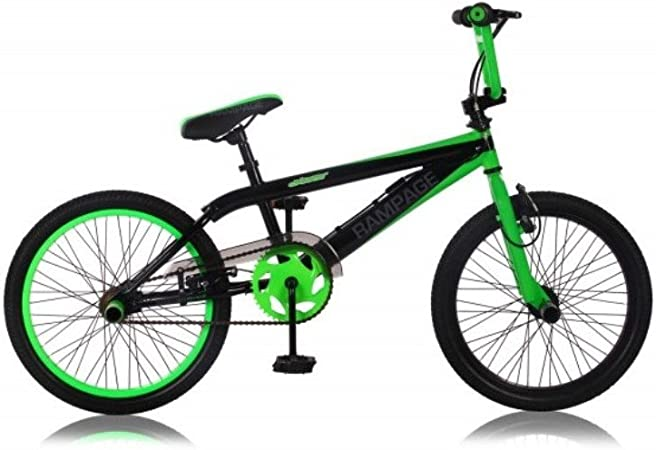 RAMPAGE 20 BICICLETA BMX, COLOR NEGRO Y VERDE: Amazon.es ...