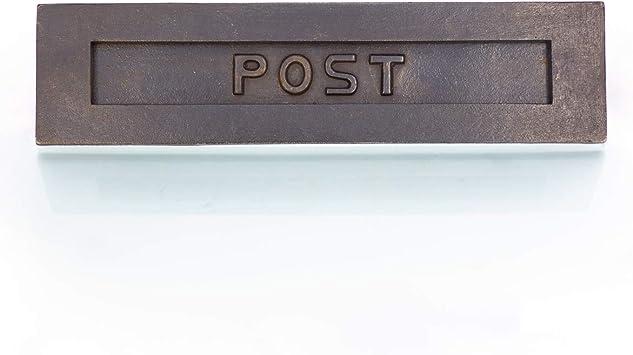 hochwertiger großer Posteinwurf Briefkasten wie antik Briefschlitz aus Eisen