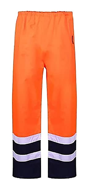 Islander Fashions High Visibility Executive Chaleco de seguridad para hombre Ropa de trabajo Pantaln reflectante S / 5XL IvZPMZnD