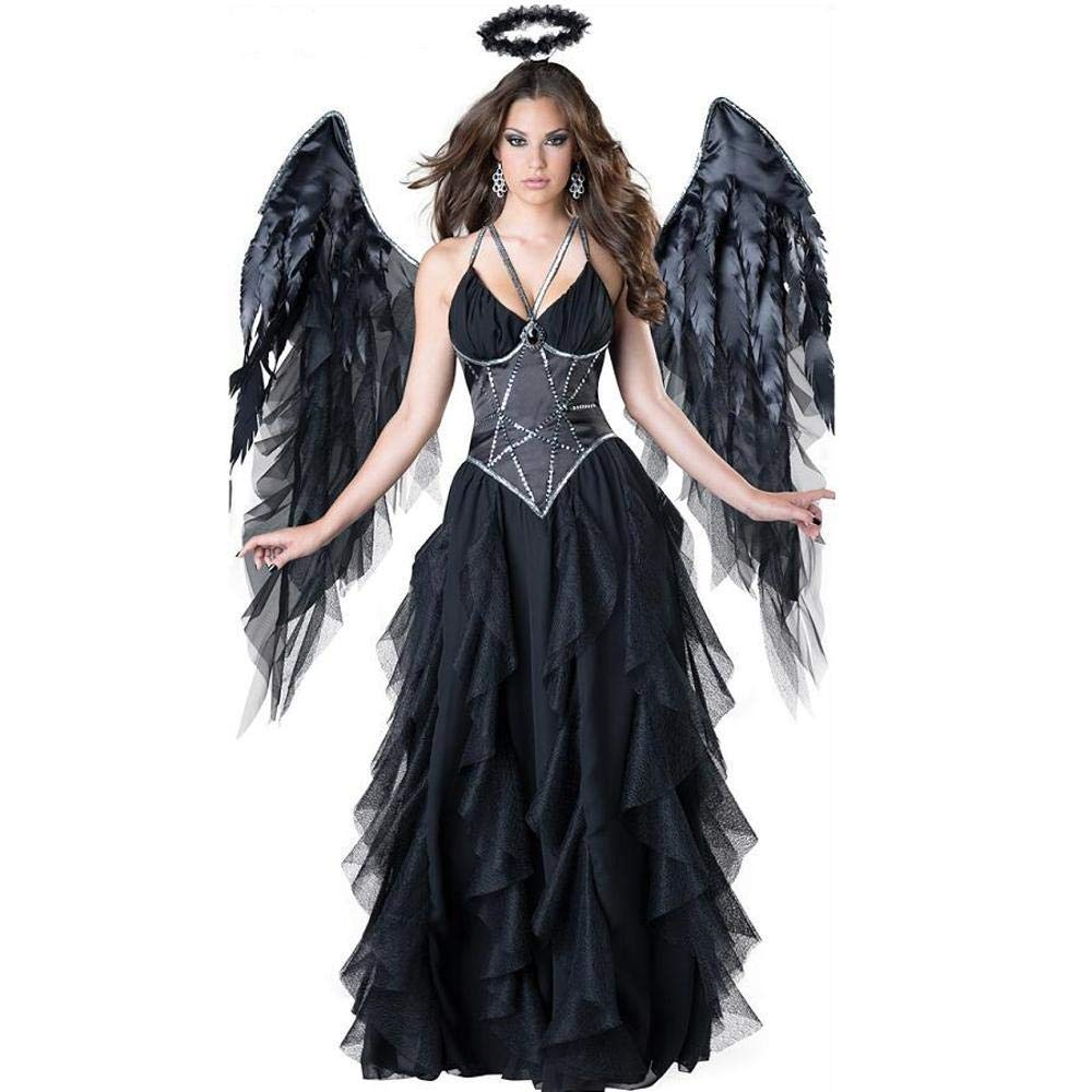 WWAVE Dunkler Engel Kostüm Halloweenspiel Anime Rolle Spielen Bühnenshow