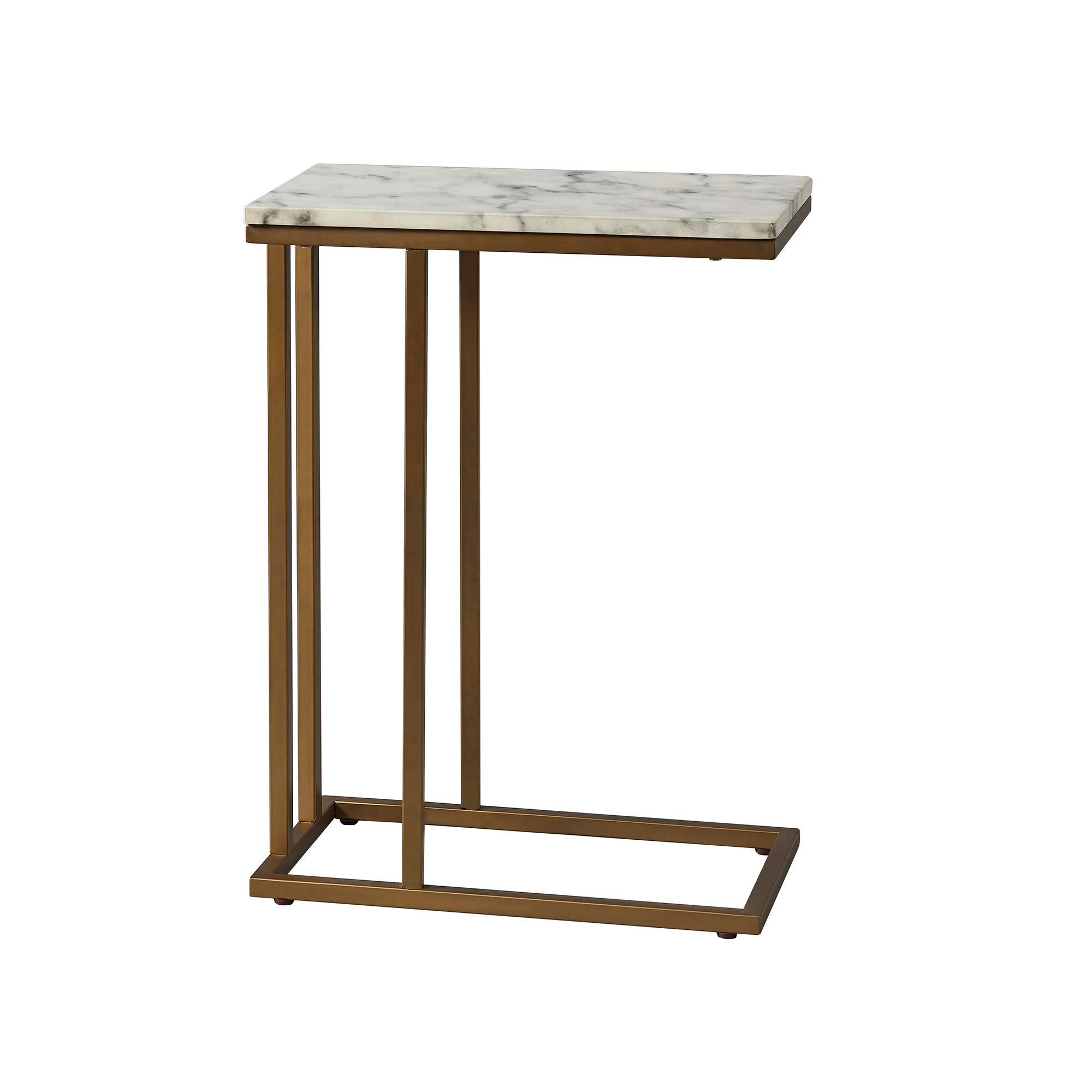 Versanora - Marmo C Shape Table - Faux Marble /Brass by Versanora (Image #5)