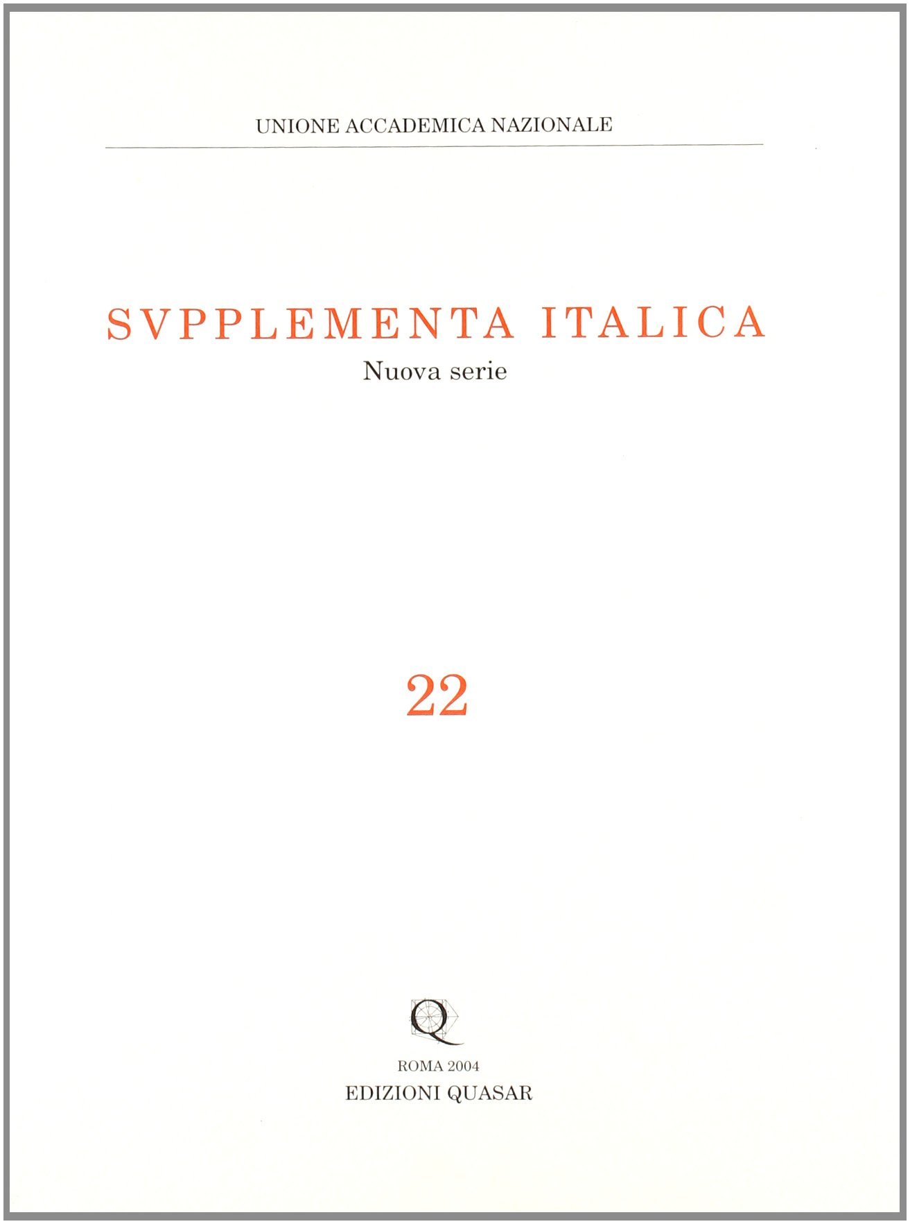 Download Supplementa italica vol. 22 ebook