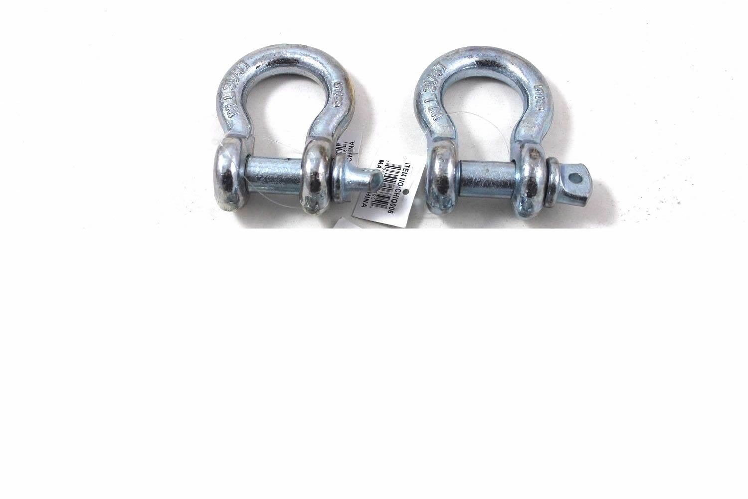 2 Pack 5/8' Bow Shackle Clevis Screw Pins Anchor Rope Cable Chain Rigging Generic 4332987635