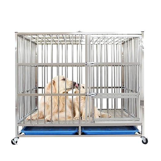 LCL Chun Li Jaula del Animal doméstico, Perro de la Jaula de Acero ...