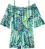 Lilly Pulitzer Kids Baby Girl's Mini Calla Romper (Toddler/Little Kids/Big Kids) Bright Navy Party Like A Flock Star Large