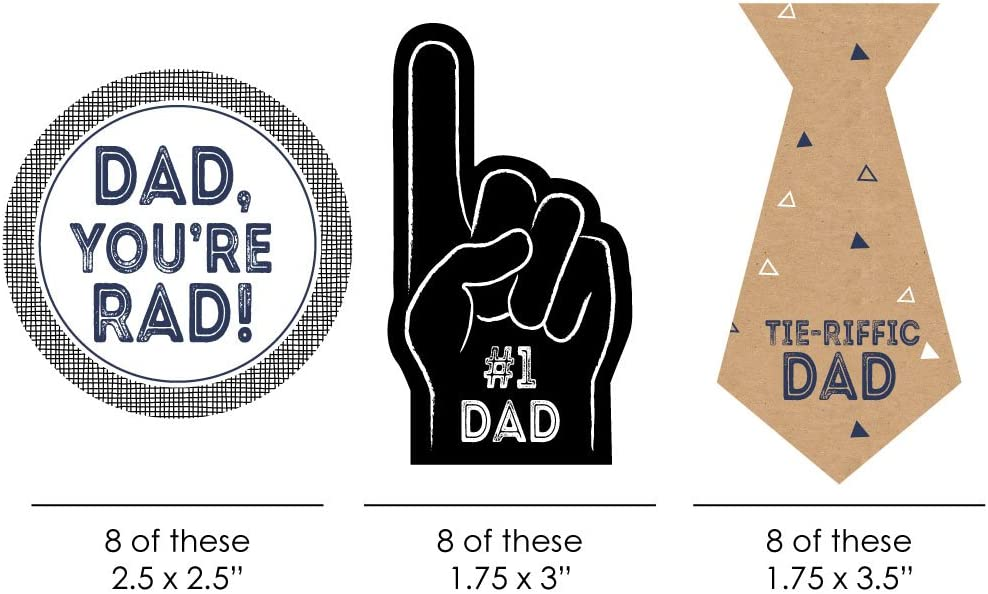 PK 2 KEEP FIT DAD EMBELLISHMENT TOPPERS FOR CARDS OR CRAFTS