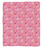 Chaoran 1 Fleece Blanket on Amazon Super Silky Soft All Season Super Plush Pig Decor Collection Funnouts of Pigs with Different Emotions Happy Animal Faces Image Fabric et Extra Pink