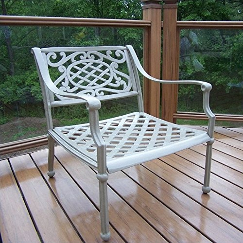 - Oakland Living Tacoma Cast Aluminum Arm Chair, Beach Sand