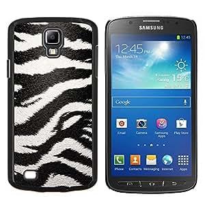 Stuss Case / Funda Carcasa protectora - Modelo de la cebra Arte Negro White Stripes - Samsung Galaxy S4 Active i9295