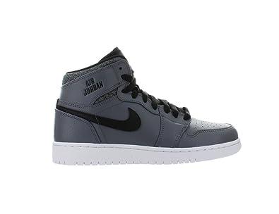 Amazon Com Nike Air Jordan 1 Retro High Color Grey Kids Shoes