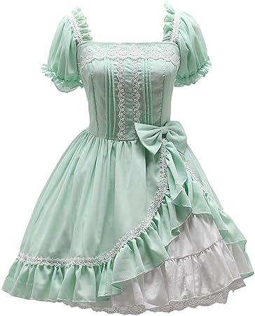 WJX Verano Chica Lolita Vestido, Desfile Plisado Vestidos, JSK Camisa, niños Prom Ball Vestido, Fiesta Boda Dama de Honor Vestidos de Princesa Traje, día de Pascua de los niños,Green,S: Amazon.es: Hogar