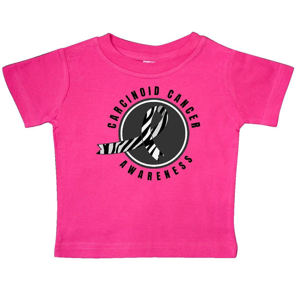 inktastic Carcinoid Cancer Awareness with Zebra Ribbon Circle Baby T-Shirt