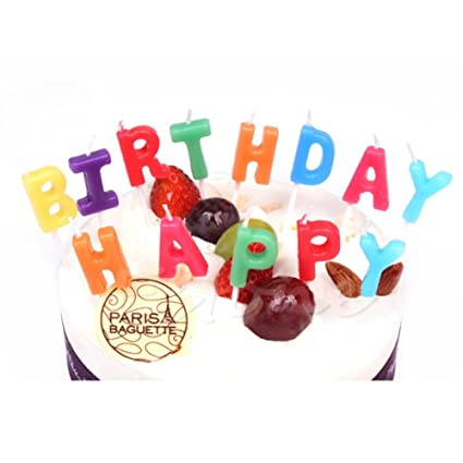 Image Unavailable Not Available For Color IzHotta Birthday Letters Topper Cake Decoration Candles