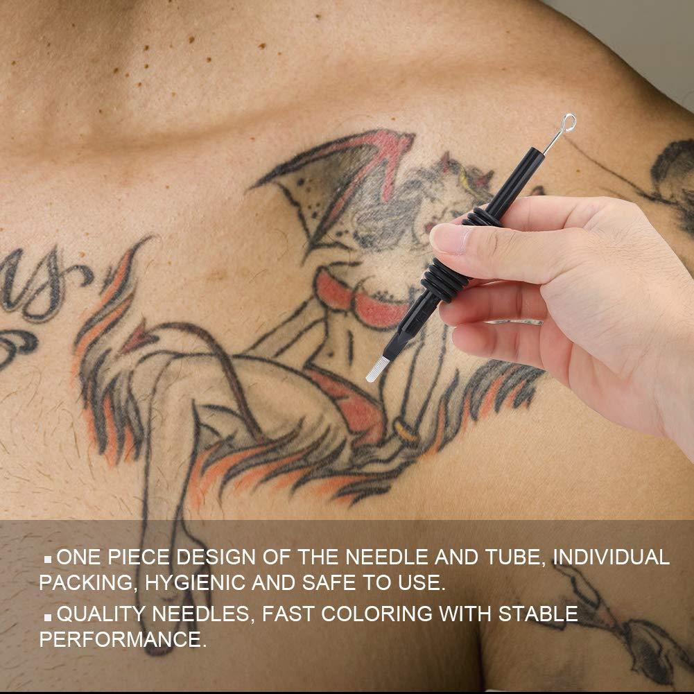 5pcs 19mm desechables agujas de tatuaje estériles con punta de ...