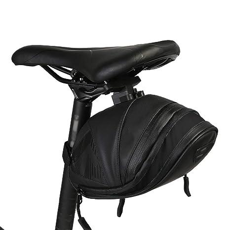 Multiple Color Fashion Nylon Waterproof Bike Seat Rear Pouch Tail Saddle Bag