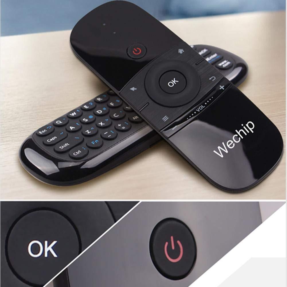 Mini Teclado, Smart TV Teclado inalámbrico Fly Mouse W1 Control Remoto Multifuncional para Android TV Box/PC / Smart TV/Projector / HTPC/PC / TV Todo en ...