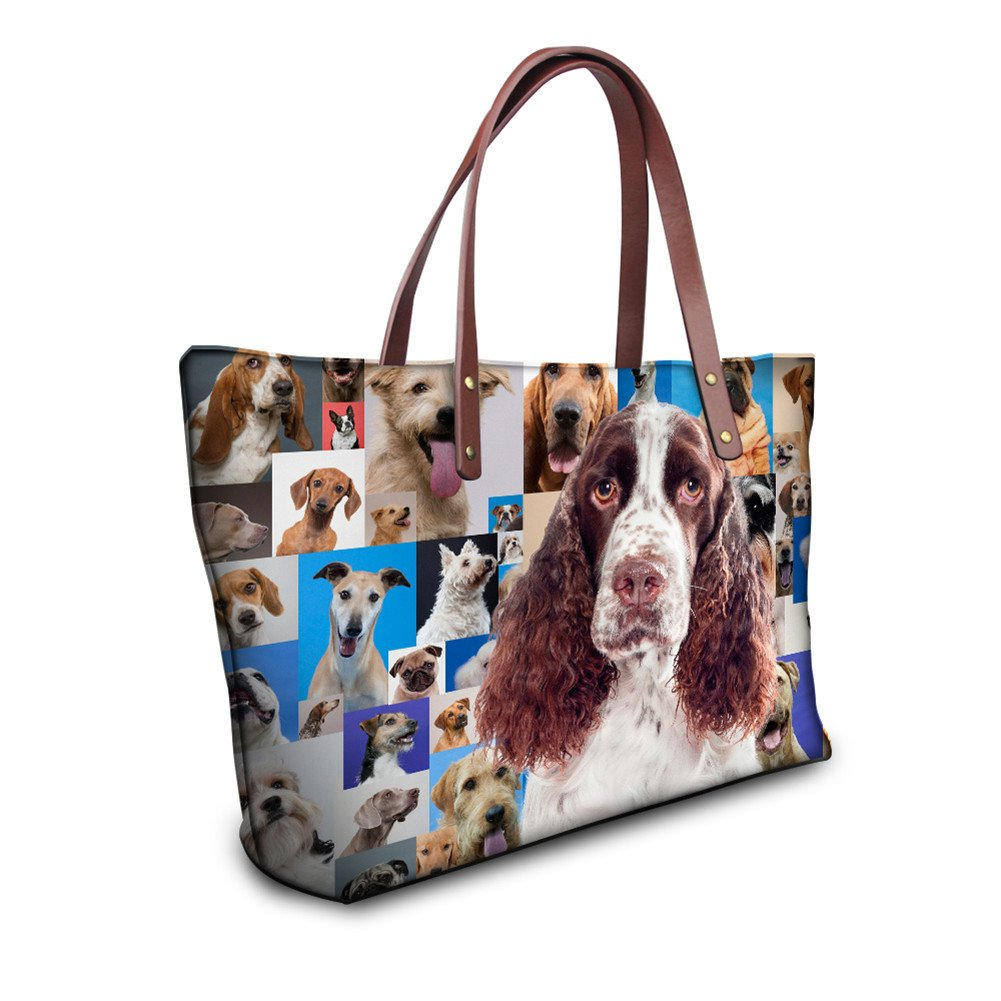 Showudesigns Kawaii Setters Print Comfortable Female Top Handle Shopping Bag