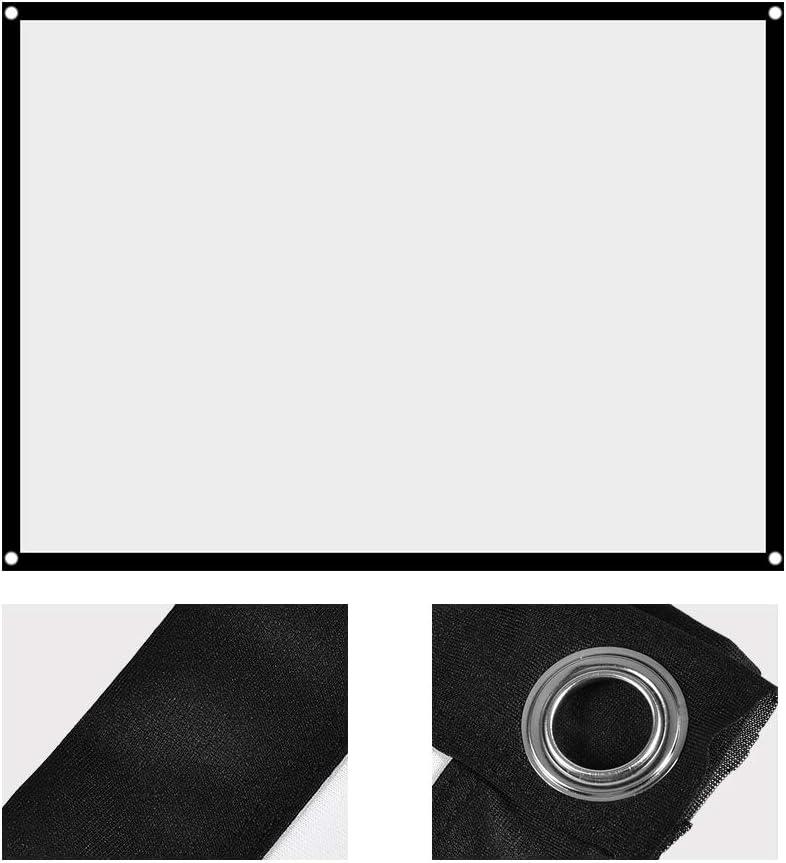 Rideau de Projecteur Blanc /Écran de Projection Pliable Non-Pli Rideau D/écran de Projection pour La Maison Camping en Plein Air Cin/éma en Plein Air