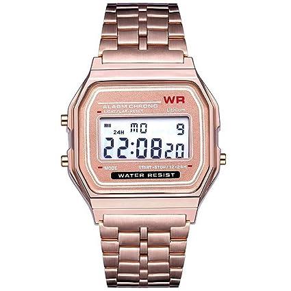 LED Digital Waterproof Quartz Wrist Watch Dress Golden Wrist Watch Women Men,Outsta Clock Gift
