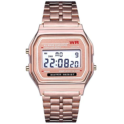 Holatee Relojes de Pulsera para Hombre Reloj Digital led Cuarzo Reloj de Pulsera Vestido Dorado Reloj de Pulsera Relojes para Hombre: Amazon.es: Relojes