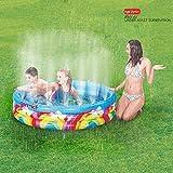 Ginzick Inflatable Rainbow Spray Kiddie Pool