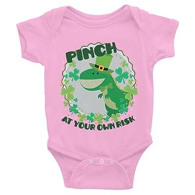 BJJMerch ST Patricks Day Pinch at Your Risk Celebration t-Shirt Infant Baby Bodysuit