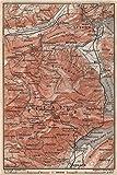 PILATUS. Luzern Lucerne Kriens Alpnach Hergiswil. Topo-map. Schweiz - 1897 - old map - antique map - vintage map - Switzerland map s