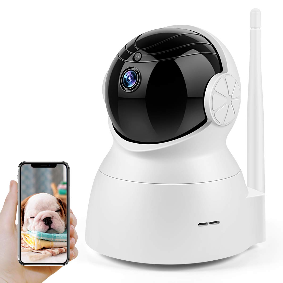 Wireless Security Camera, Home Security Surveillance Video Camera with Two Way Audio, 720P Pan/Tilt Night Vision Baby Monitor, Nanny Cam