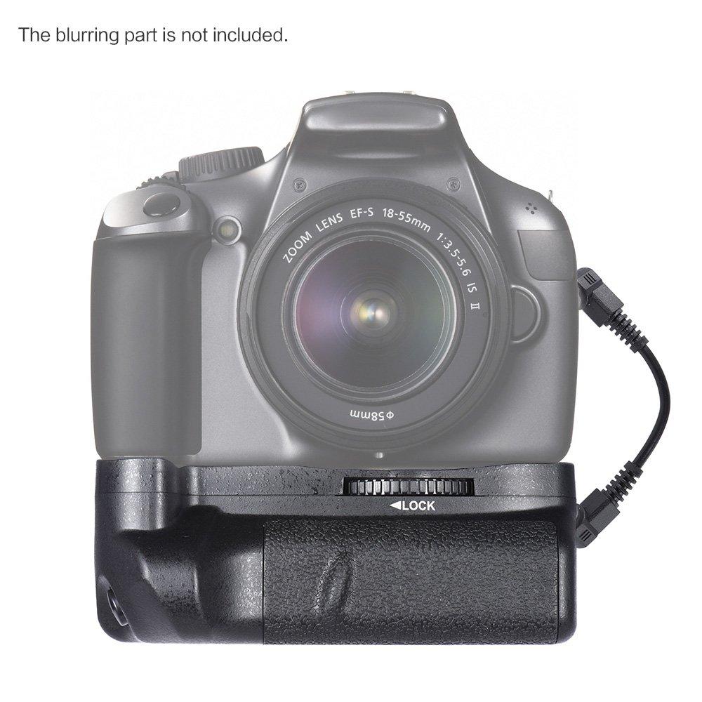 Andoer BG-1H Vertical Battery Grip Compatible with 2 * LP-E10 Battery for Canon EOS 1100D 1200D 1300D/Rebel T3 T5 T6/kiss X50 X 70 DSLR Cameras 4332235240