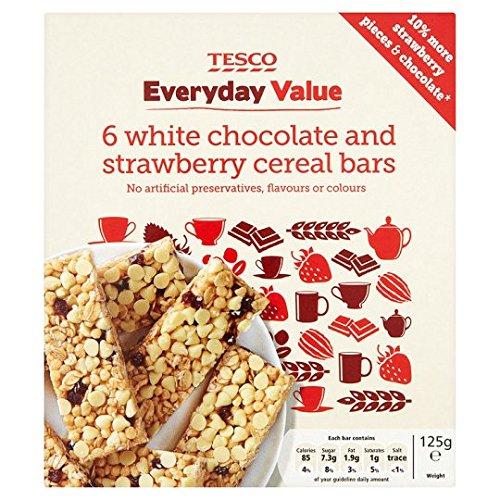 Tesco Everyday Value 6pk White Chocolate And Strawberry