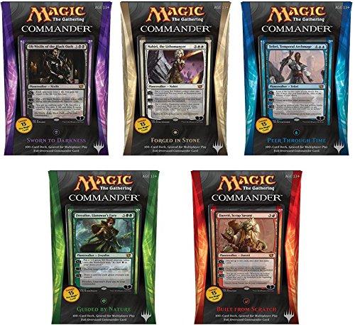 Commander 2014 – Complete Set of All 5 Decks – Magic the Gathering (MTG) image