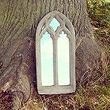 Stunning Gothic Outdoor Stone Ornate Mirror