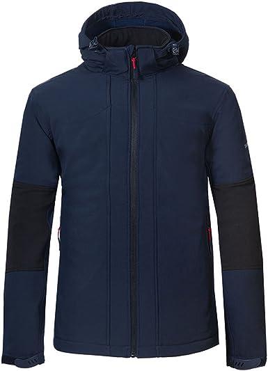 veste coupe vent à capuche doublée polaire homme