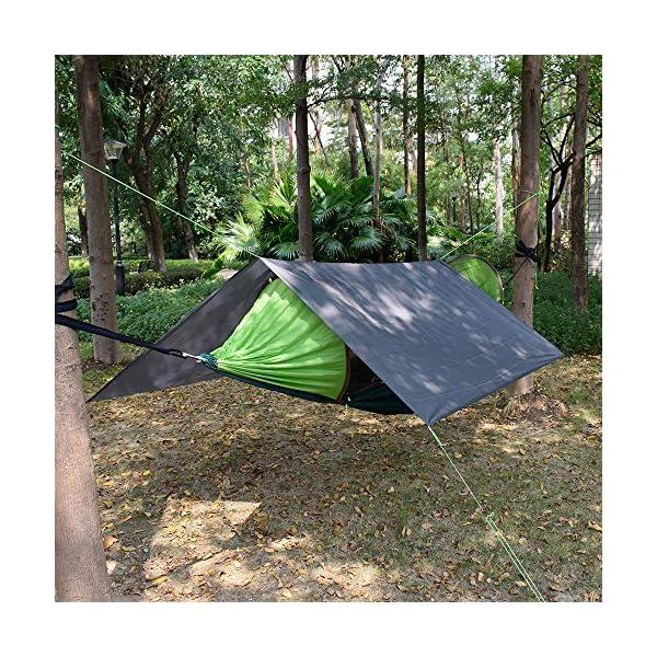615v3Fn41fL GEERTOP Schutzplane Zeltplanen Zeltunterlage 1-4 Personen 20D leichte wasserdicht für Zelt Wanderungen Camping Picknick