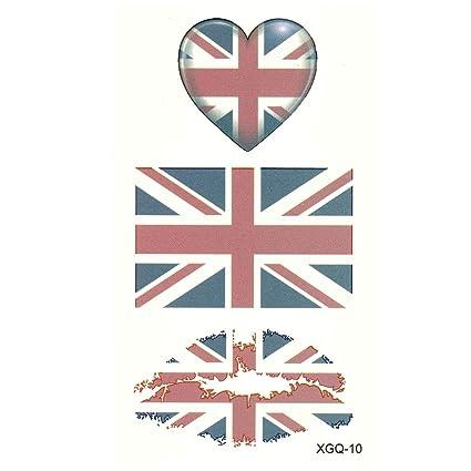 Just Fox - Tatuaje temporal, Gran Bretaña, bandera del Reino Unido ...
