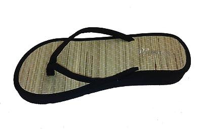 2df2aa737047 New Bamboo Sandals Womens Flip Flops Flats Shoe Velvet Thongs Beach Summer  Black 5