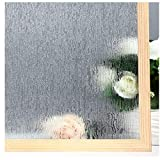 Velimax Rain Film Privacy Window Film Decorative Window Film Rain Glass Sticker Anti-UV Control Heat 17.7'' x 78.7''