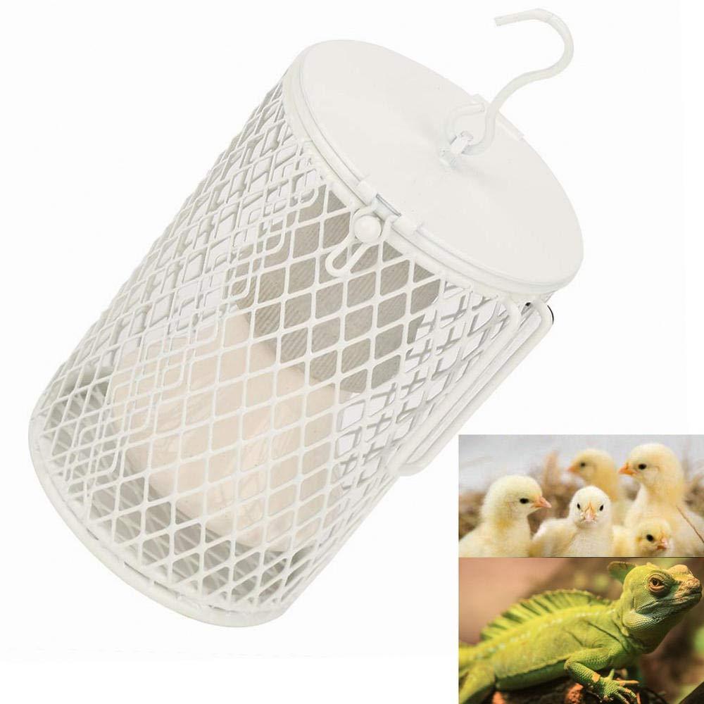 100W Infrared Ceramic Emitter Heating Lamp, Anti-Scald Heater Pets Reptile Incubator Cage Heat Light Bulb with Hook US Plug (Black) Yosooo