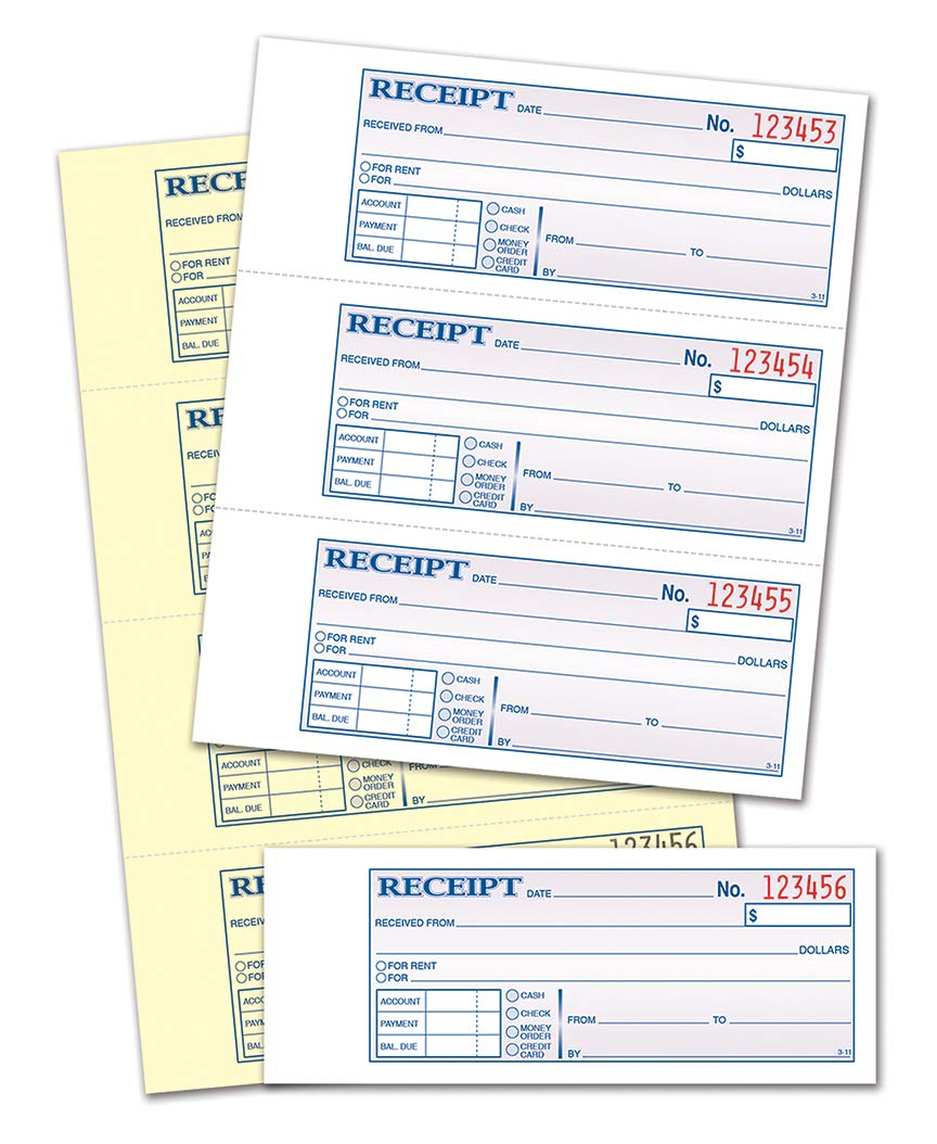 TOPS Money Receipt Book, 2-Part, Carbonless, 2-3/4 x 7-1/8 Inches, 4 Receipts per Page, 400 Sets per Book (46816) by Tops (Image #3)