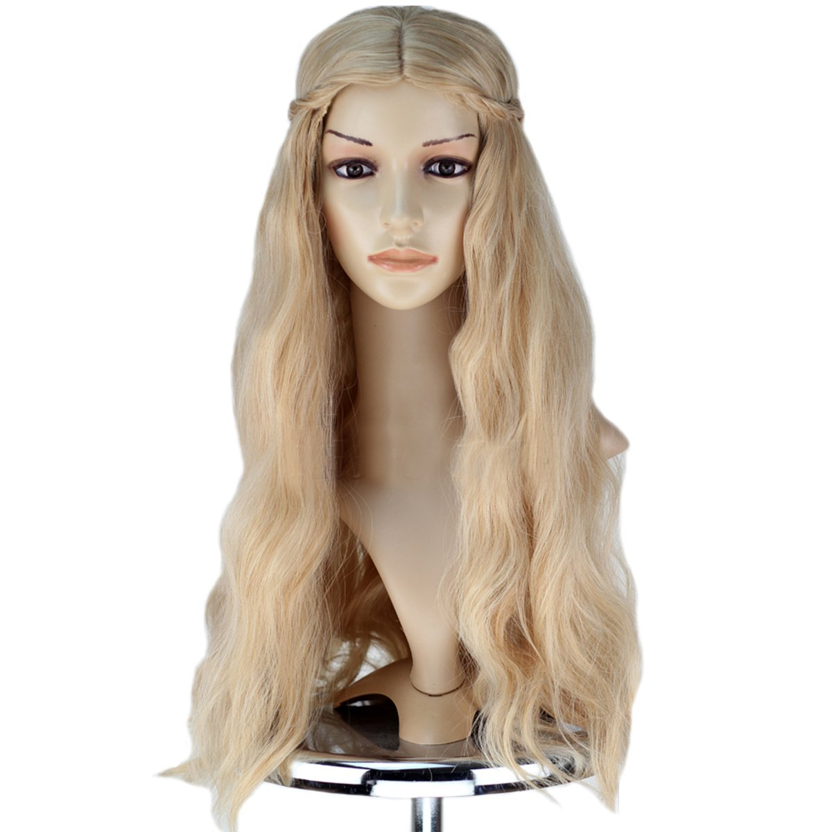 Amazon.com   Angelaicos Womens Long Blonde Wig Fluffy Wavy Party Costume  Cosplay Hair Full Wigs   Beauty e8d2f08260
