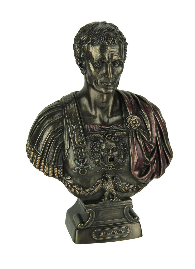 Veronese Resin Statues Julius Caesar Bust Figurine